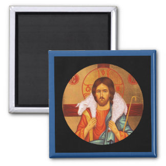Jesus Carrying a Lost Lamb icon Magnet