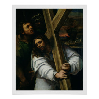 Jesus Carrying the Cross, c.1535 (oil on panel) Poster