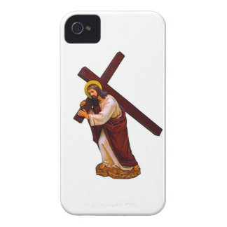 Jesus Carrying The Cross Figure iPhone 4 Covers