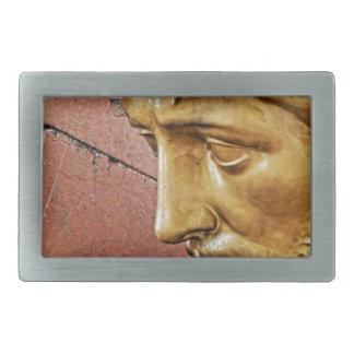 Jesus carrying the cross rectangular belt buckle