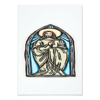 Jesus Christ 13 Cm X 18 Cm Invitation Card