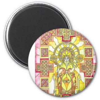 Jesus christ 6 cm round magnet