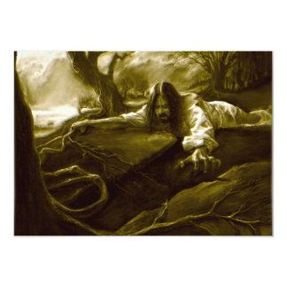 Jesus Christ Agony in the Garden of Gethsemane 13 Cm X 18 Cm Invitation Card