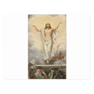 Jesus Christ Among Clouds Postcard