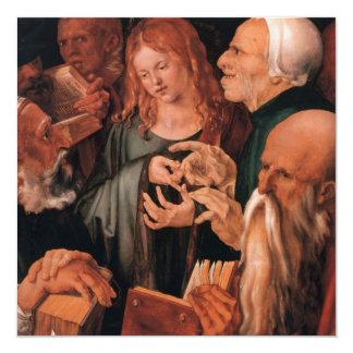 Jesus Christ among the Doctors 13 Cm X 13 Cm Square Invitation Card