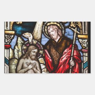 Jesus Christ and John The Baptist Sticker