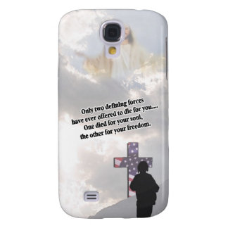 Jesus Christ and the American Soldier New Design#2 Samsung Galaxy S4 Covers