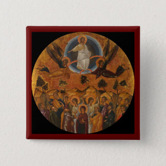 Jesus Christ Ascending to Heaven 15 Cm Square Badge