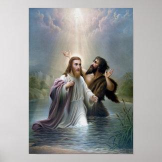 Jesus Christ Baptism by John the Baptist Poster