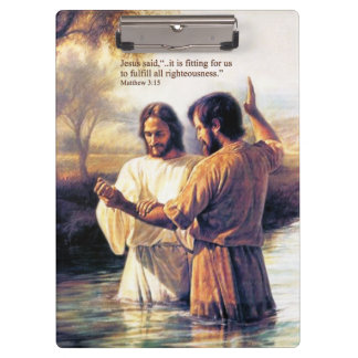 Jesus Christ Baptism Clipboard Options