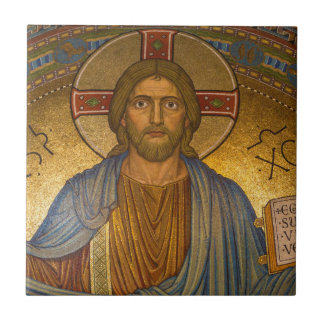 Jesus Christ - Beautiful Christian Artwork Small Square Tile