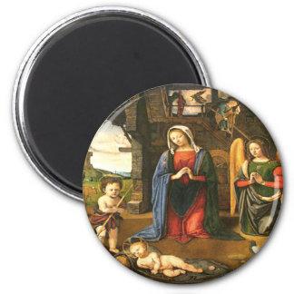 Jesus Christ birth 6 Cm Round Magnet