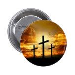 Jesus Christ Blessed Virgin Mary Dove Calvery 6 Cm Round Badge