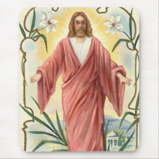 Jesus Christ Christian Christianity Lily Mouse Pad