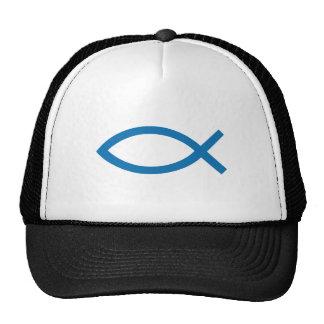 Jesus Christ, Christian fish symbol for t-shirt Mesh Hats