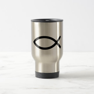 Jesus Christ, Christian fish symbol Mug