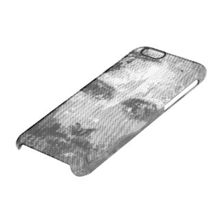 Jesus Christ Collage halftone black + your ideas Clear iPhone 6/6S Case