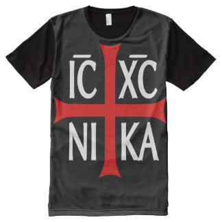 Jesus Christ Conquers, ICXC NIKA All-Over Print T-Shirt