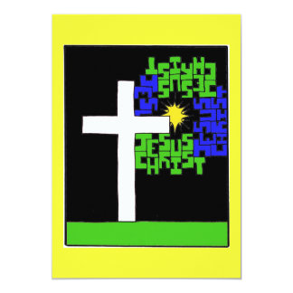 Jesus Christ Cross 13 Cm X 18 Cm Invitation Card