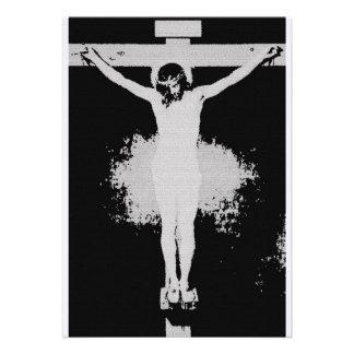 Jesus Christ Cross Personalized Announcement