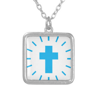 Jesus Christ Cross Silver Plated Necklace