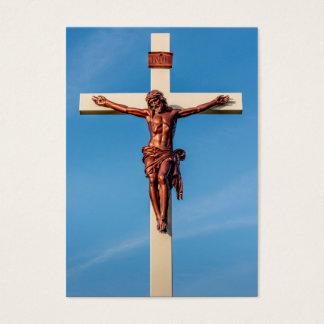 Jesus Christ Crucifix Against a Blue Sky Business Card