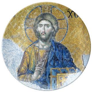 Jesus Christ Deësis Mosaic Hagia Sophia Plate