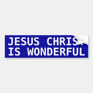 Jesus Christ is Wonderful Bumper Sticker