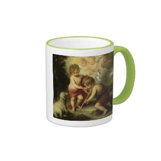 Jesus Christ & John the Baptist Ringer Mug