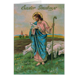 Jesus Christ Lamb Shepherd Card