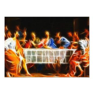 Jesus Christ Last Supper 13 Cm X 18 Cm Invitation Card