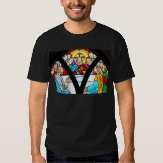 Jesus Christ Last Supper Stained Glass Window Tshirt