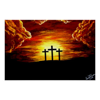 Jesus Christ Love of God Cross Crucifix Poster