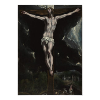 Jesus Christ on the Cross 5x7 Paper Invitation Card
