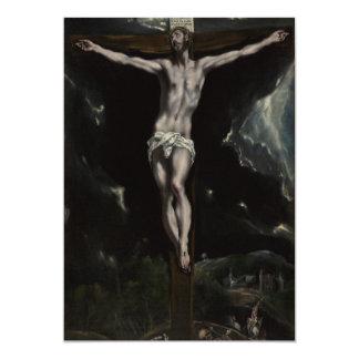 Jesus Christ on the Cross 13 Cm X 18 Cm Invitation Card