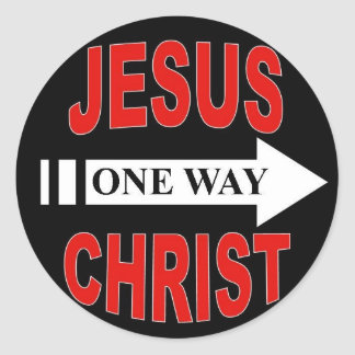 Jesus Christ One Way Classic Round Sticker