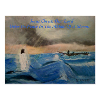 Jesus Christ, Our Lord Gives Us Peace. Postcard