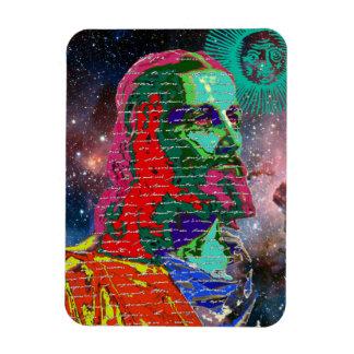 Jesus Christ Outer Space Galaxy Cosmos Stars Sun Rectangular Photo Magnet