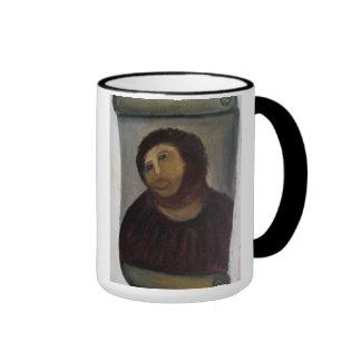 jesus christ painting ringer coffee mug