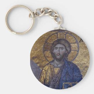 Jesus Christ Pantocrator Basic Round Button Key Ring