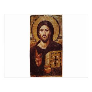 Jesus Christ Pantocrator Christian Icon Postcard