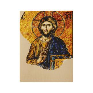 Jesus Christ, Pantocreator Wood Poster