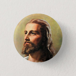 Jesus Christ Portrait 3 Cm Round Badge