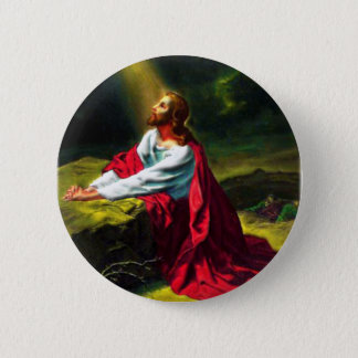 Jesus Christ Praying in the Garden of Gethsemane 6 Cm Round Badge