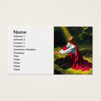 Jesus Christ Praying in the Garden of Gethsemane Business Card