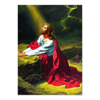 Jesus Christ Praying in the Garden of Gethsemane Personalized Announcements