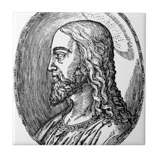Jesus Christ profile Ceramic Tile