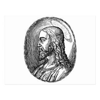 Jesus Christ profile Postcard