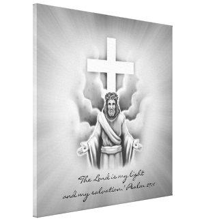 Jesus Christ Resurrection Cross Design Canvas Print