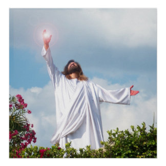 Jesus Christ Resurrection Easter Christian Poster